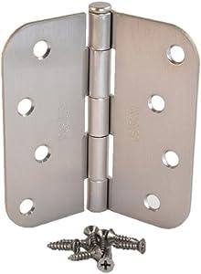 (Pack of 9) kesler 4 Inch Satin Nickel Door Hinges with 5/8