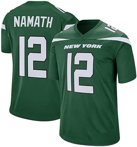 TTATT Camisa De Fútbol con Camiseta Deportiva De Hombre New York Jets 12# Joe Namath Camiseta De Fútbol con Versión De Bordado Sport Top Jersey Camiseta De Manga Corta: Amazon.es: Deportes y