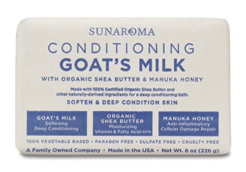 Sunaroma Goat's Milk W/Shea Butter & Manuka Honey Soap (8 - Goats Honey Milk Soap