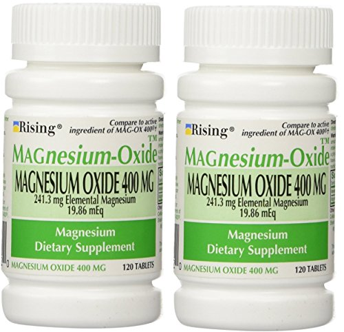 - Magnesium Oxide 400 mg Dietary Supplement Tablets - 120 Tablets (Pack of 2)