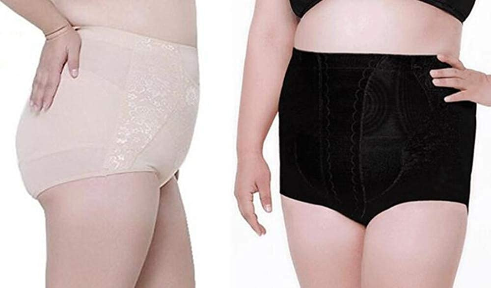 cee7ed9af3e smart sisi 2 Pack Women s Plus-Size High Waist Body Shaper Underwear  Slimming Shapewear Tummy Control Panties at Amazon Women s Clothing store