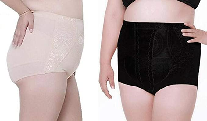 0f6d5a56a smart sisi 2 Pack Women s Plus-Size High Waist Body Shaper Underwear  Slimming Shapewear Tummy