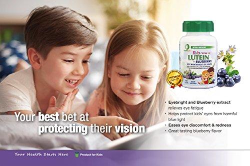 Nature Spec Kids Chewable Lutein Premium Blueberry Flavor Taurine Vitamin Zinc Eyebright Extract Lycium Extract Kid's Eye Health,Vitamin Chewbale Eye Health Kid Lutein by Nature Spec (Image #6)