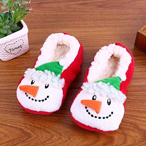 Pantofole Caldo Inverno Ciabatte D Stampa Velluto Antiscivolo Vetro Cotone Cotone Donna Da Round Scarpe In Toe Pavimento Longra BpqPZq