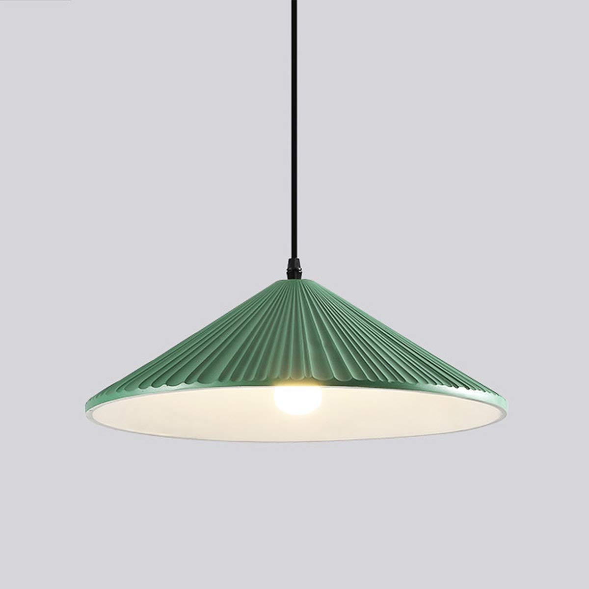 NANGE Macaron Style Chandelier,Resin Metal Suction Cups Pendant Light,Modern Minimalist Nordic Restaurant Hanging Lamps, E27,110-220V(Without Light Source) (Color : Green, Size : AC 110V) by NANGE (Image #1)
