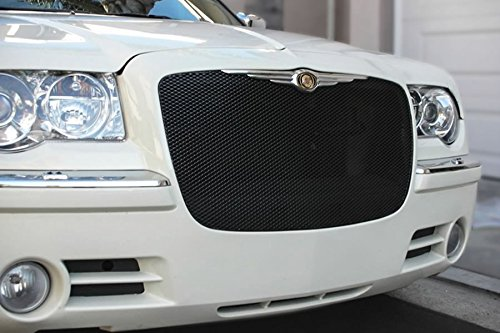 (2005-2010 CHRYSLER 300 UPPER GRILLE (Powder Coat Finish) (Gloss Black)