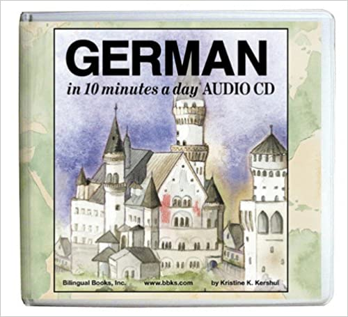 GERMAN in 10 minutes a day AUDIO CD Wallet Library Edition