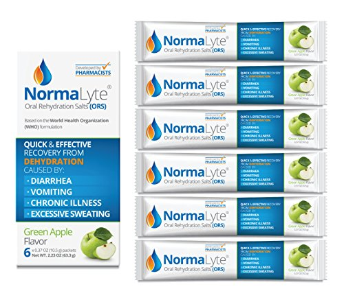 (NormaLyte Oral Rehydration Salts, Apple, 6 Pk (Yields 500mL per pack))