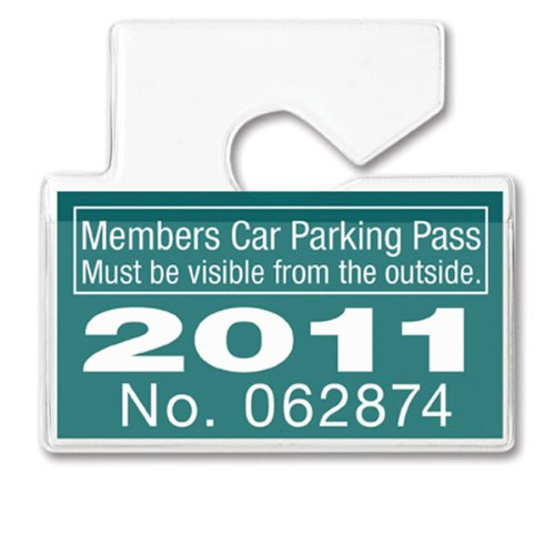 Clear Horizontal Vehicle Parking Pass Hang Tag Holder by Specialist ID, Sold Individually (Rear View Mirror Tags)