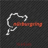 Nurburgring Sticker Decal Vinyl - White and Red