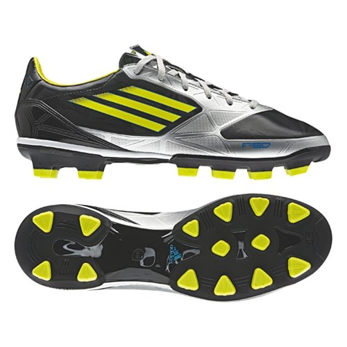 adidas(アディダス) F30 TRX HG サッカースパイク V21366 (ブラック×Lライム(V21366), 28.0cm)