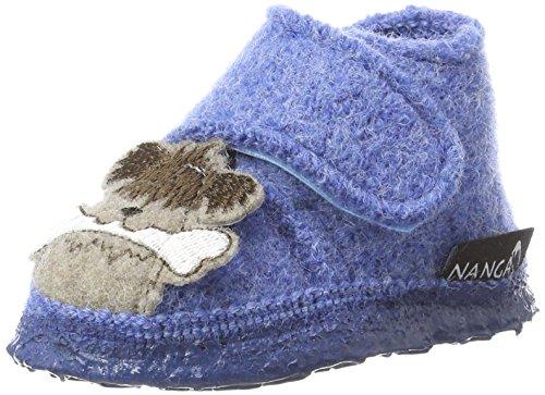 Nanga Jungen Dogs Hausschuhe Blau (Himmelblau)