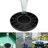 Solar Fountain Pump, Bird Bath Floating Pump Kit 1.4W Free Standing Floating