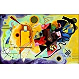 Posters: Wassily Kandinsky Poster Art Print - Yellow Red Blue (35 x 24 inches)