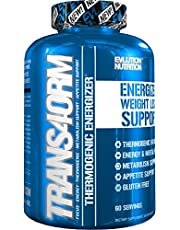 Evlution Nutrition Trans4orm Thermogenic Energizing Fat Burner Supplement, Increase Weight Loss, Energy and Intense Focus (60 Servings)