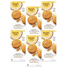Simple Mills Almond Flour Peanut Butter Cookies, Gluten Free and Delicious Soft Baked Cookies, Organic Coconut Oil, Good for Snacks, Made with whole foods, (Packaging May Vary), Pack of 6