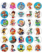 30 X Paw Patrol Edible Wafer/Paper Cupcake cake toppers Birthday Party Image