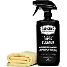 CarGuys Super Cleaner - The most effective All Purpose Cleaner available on the market! - Best for Leather Vinyl Carpet Upholstery Plastic Rubber and much more! - 18 oz Kit