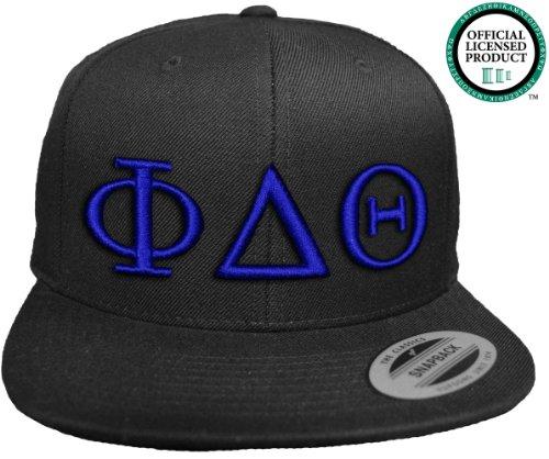 PHI DELTA THETA Flat Brim Snapback Hat Royal Letters / Phi Delt Frat | Fraternity Cap