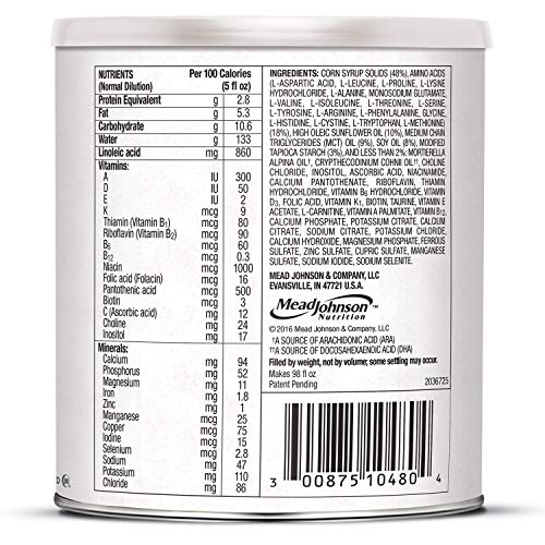 PurAmino Junior Hypoallergenic Unflavored Toddler Drink Powder for Severe Food Allergies, 14.1 ounce - Omega 3 DHA, Probiotics, Iron, Immune Support