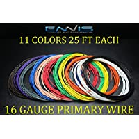 16 GAUGE WIRE 275 FT ENNIS ELECTRONICS 25 FT ROLLS PRIMARY REMOTE HOOK UP AWG COPPER CLAD 11 ROLLS