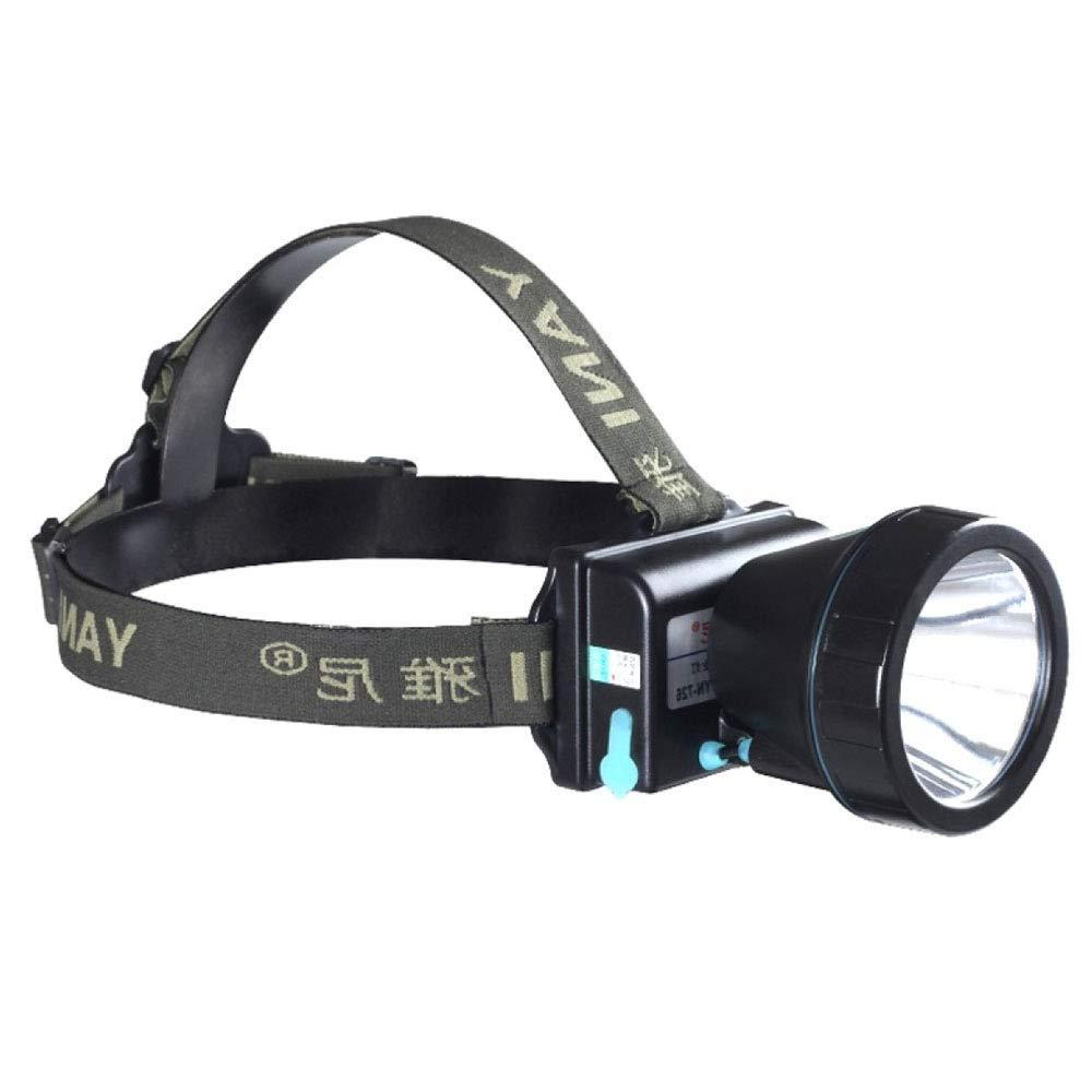 Liul Scheinwerfer Camping Radfahren Tragbar Wandern Totale Einstellung Hohes Licht Gelbes Licht Aufladen Kopfhörer,Gelblight-60w