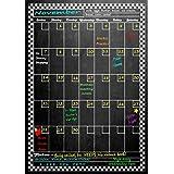 "Vertical Magnetic Refrigerator Chalkboard Dry Erase Calendar 16.5"" X 11.5"" plus FREE Chalk Marker"