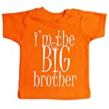 Dirty Fingers, I'm the Big Brother, Baby T-shirt, 12-18m, Orange