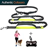 """Durable Hands Free Dog Leash for Running, Walking, Hiking, with Adjustable Waist Belt (Fits up to 47"""" Waist) and Shock Absorbing Bungee (CLA-Gray/Lime)"""