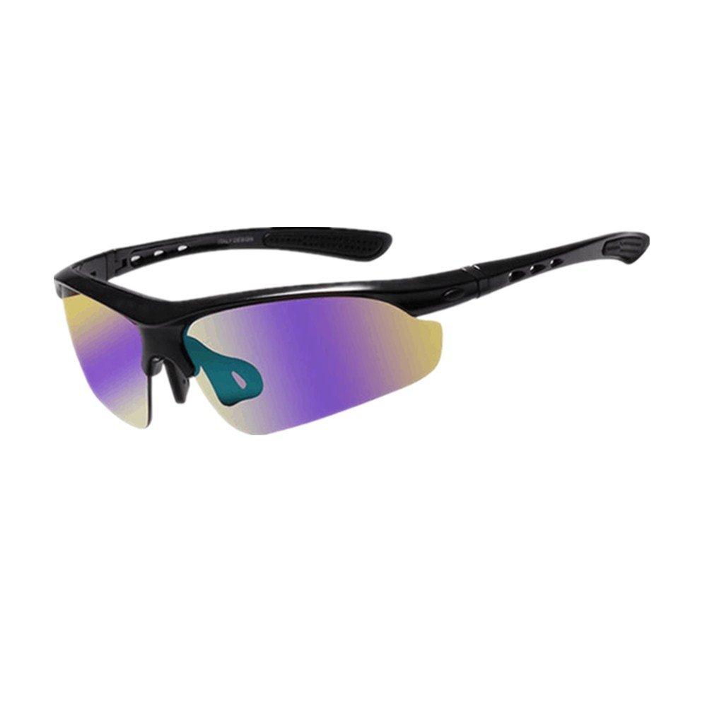 Chlyuan Fahrradfahren Brille Radfahren Gläser Fahrrad Farbwechsel Brille Erwachsenen Outdoor-Brillen Geeignet für Outdoor-Liebhaber Radfahren. Multifunktionale Sonnenbrillen (Farbe   Schwarz)