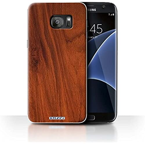 STUFF4 Phone Case / Cover for Samsung Galaxy S7 Edge/G935 / Mahogany Design / Wood Grain Effect/Pattern Collection Sales