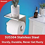 Toilet Paper Holder with Shelf, Self Adhesive