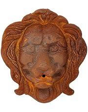 aubaho León león Cabeza decoración de Hierro Fuente de Pared Figura Escultura