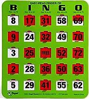 25 Easy Read Bingo Heavy Duty 5 Ply Jumbo Shutter Slide Cards