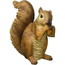Design Toscano QM918873 Woodland Squirrels Chomper and Scamper Garden Statues, 7 Inch, Set of Two, Multicolored