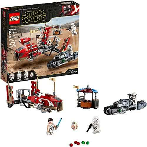 LEGO Star Wars: The Rise of Skywalker Pasaana Speeder Chase 75250 Hovering Transport Speeder Building Kit with Action Figures, New 2019 (373 Pieces)
