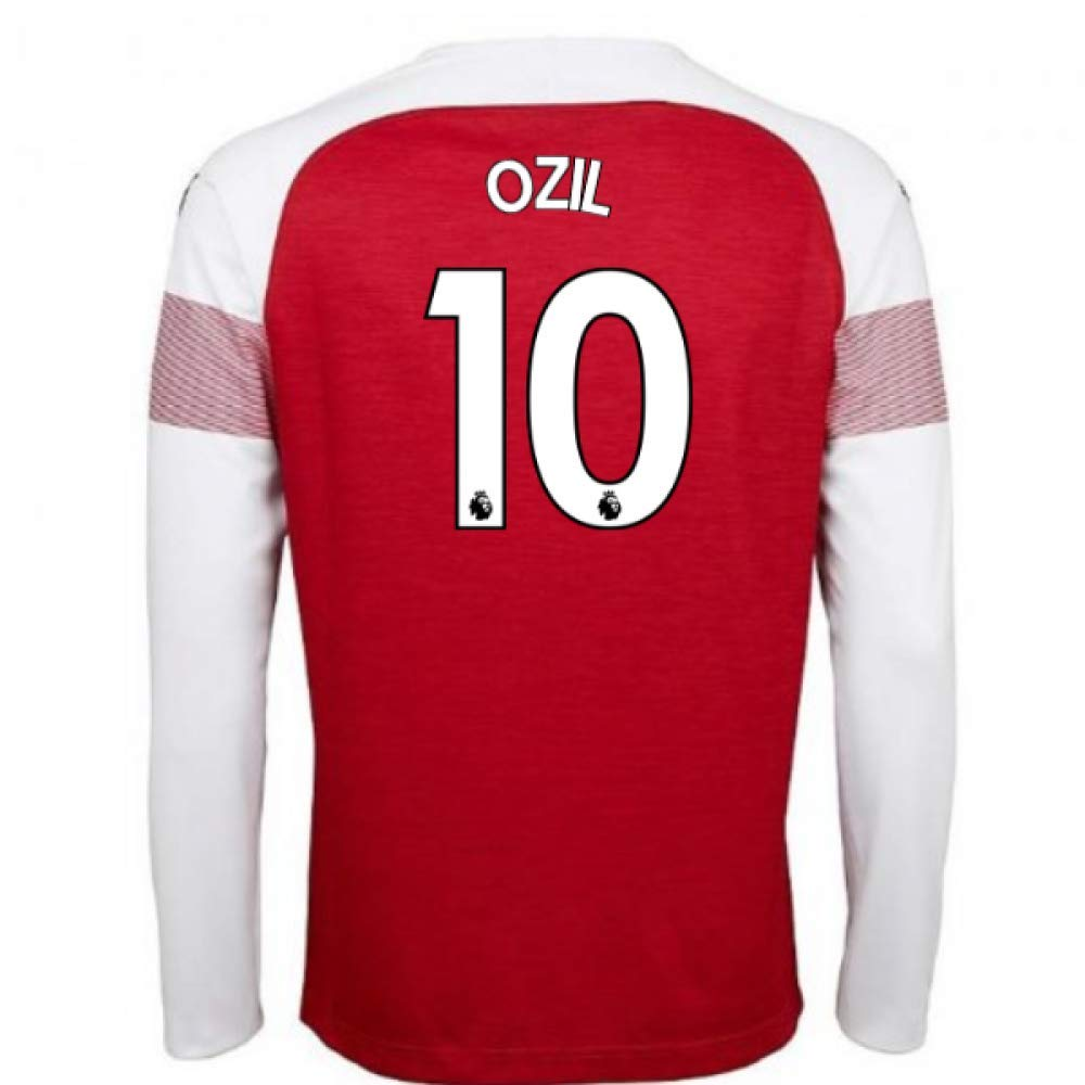 2018-2019 Arsenal Puma Home Long Sleeve Football Soccer T-Shirt Trikot (Mesut Ozil 10)