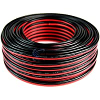 100 Feet 14 Gauge Red Black Stranded 2 Conductor Speaker Wire Car Home Audio Ga