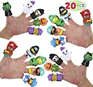 JOYIN Halloween 20 PCS Character Finger Puppets Witch, Ghost, Grim Reaper, and Pumpkin Character Finger Toys f