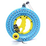EMMAKITES Lockable Kite Reel Winder 8.7inches(Dia) MACARON Blue with 120lb Line Smooth Rotation Ball Bearing Tool for Single Line Kite Flying Inflatable Delta Octopus Another Big Knob