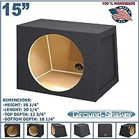 15 Single Sealed Sub Box Hatchback 2.19 cu.ft. MDF Black Subwoofer Enclosure