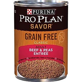 Purina Pro Plan Grain Free Pate Wet Dog Food, SAVOR Grain Free Beef & Peas Entree - (12) 13 oz. Cans