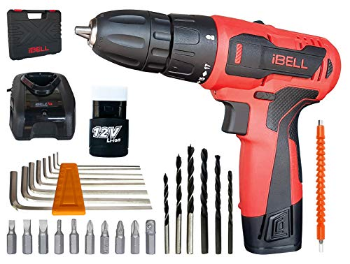 iBELL Cordless Drill Driver CD12-74, 12-Volts,1 Battery+BMC Box + Extra 32 Accesories Price & Reviews