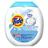 He Laundry Detergent Tide PODS Free & Gentle HE Turbo Laundry Detergent Pacs 81-load Tub