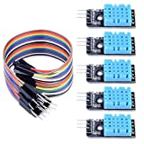 Longruner 5 PCS Temperature Humidity Sensor Module DHT11 with 20PIN Male to Female Dupont Jump Wires Cable for Arduino UNO R3 MEGA 2560 Raspberry pi 3 2 1 Model B 2B A+ RPI Zero LK03