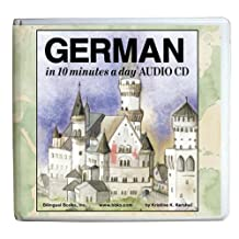 GERMAN in 10 minutes a day AUDIO CD Wallet - Library Edition