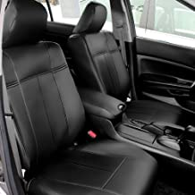 FH GROUP FH-CM202102 2003 - 2007 Honda Accord (Sedans Only) Leather Black Custom Bucket Seat Covers Front Set Airbag Safe