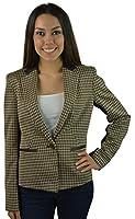 Anne Klein Women's Long Sleeve Blazer 4 Chocolate Multi