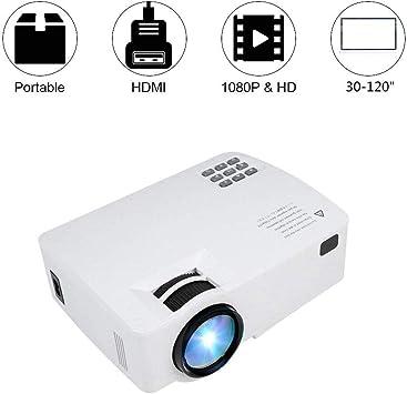 Tonysa Mini Proyector Espejo Bluetooth WiFi 1080p, Video Proyector ...