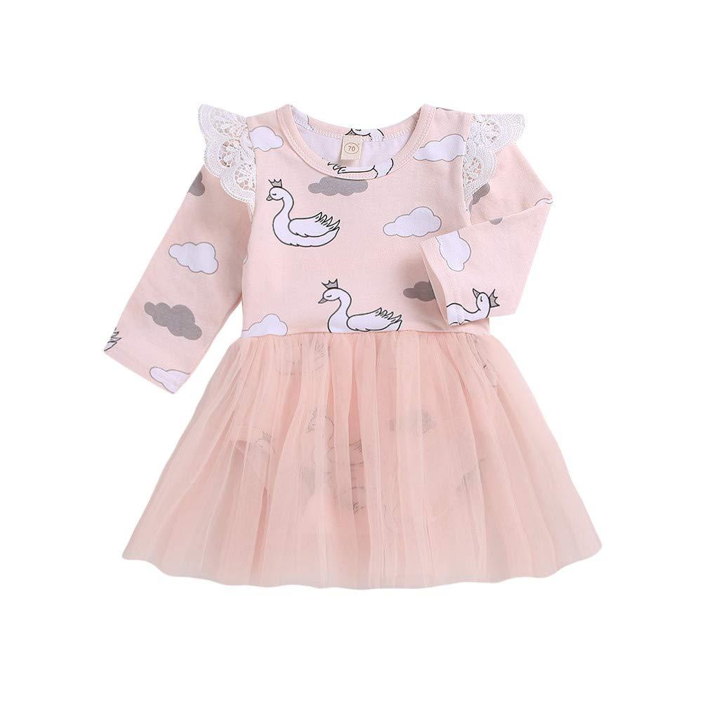 Ropa Bebe Niña Ropa Bebe Niña Invierno Bebé Recién Nacido Niña Caricatura Cisne Mameluco Tul Vestido De Princesa Vestido: Amazon.es: Bebé